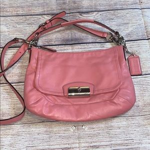 Coach Kristin Pink Leather Crossbody Bag Purse